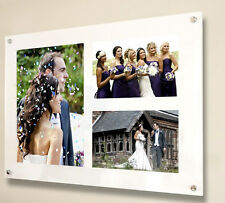 "Acrylic 16x20"" x10mm wall picture photo frame for 1x 10x7"" & 2x 6x4 all colours"
