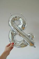 "16"" Gold Silver Foil Balloon Numbers Birthdaye Age Wedding Bespoke Mylar"