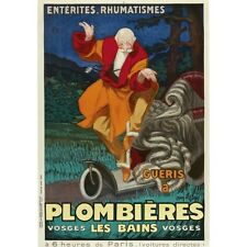 1931 Plombieres Spa By Jean Dylen French Advertising Vintage Poster Reproduction