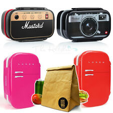LUNCH BOXES & BAGS - Bento Clip Lock Packed Lunch Box Bag Storage Containers