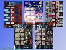 Pegatinas Set Placas Identificativas Etiquetas Star Wars Spider Man Cenicienta