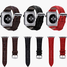 42mm Genuine Leather Buckle Wrist Watch Strap Band Belt for iWatch Apple Watch