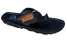R-Swiss Brand Mens Black V-Shape Casual Slipper / Sandal 16001