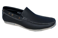 Look Style Brand Mens Black Casual Loafer Shoes 411