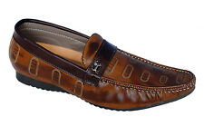 Italino Brand Mens Slipons Brown Casual Loafer Shoes itno-5