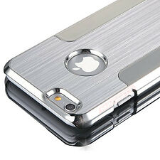 Luxury Brushed Metal Aluminium Blade Chrome Hard Case For Apple iPhone 6 6S