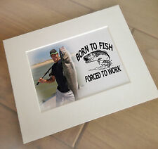 Personalised print and mount for photo frame, birthday gift, fishing present.