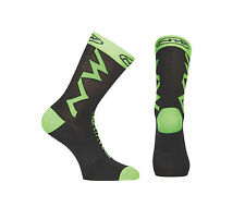 Calzini Estivi Northwave EXTREME TECH Black/Green Fluo/SUMMER SOCKS NORTHWAVE