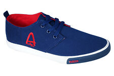 Aston Paris Brand Mens Blue Casual Canvas Sneakers Shoes XJY-1