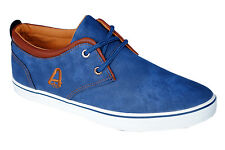 Aston Paris Brand Mens Blue Casual Canvas Sneakers Shoes XJY-10