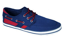 Aston Paris Brand Mens Blue Casual Canvas Sneakers Shoes XJZ-7