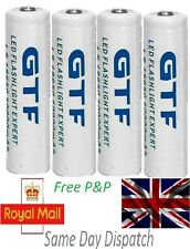 4 /2/1x 18650 10000mAh 3.7v GTF li-ion White Rechargeable Battery for MP3 Player