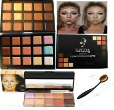 15 Colors Concealer Palette #1,#2 kit with Brush Face Makeup Contour Cream,