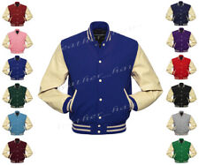 Faux Leather Sleeve Letterman College Varsity Women Wool Jack #CRS-CRS-CRB-FL