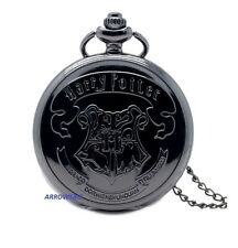 Antique Harry Potter Hogwarts Necklace Chain Pendant Fob Pocket Watch Steampunk