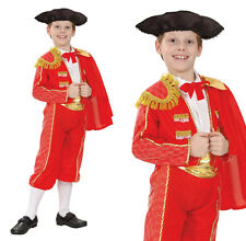 Childrens Matador Fancy Dress Costume Bull Fight Spanish Outfit 3-10 Yrs