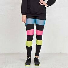 Adidas Originals Rita Ora  Black Neon Colour Mesh Block Leggings Size 6Uk