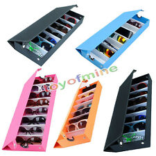 Eyeglass Sunglasses Glasses Storage Display Grid Stand Case Box Holder 8 Slot