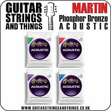 Martin PHOSPHOR BRONZE Acoustic Guitar Strings - ALL GAUGES 6 String