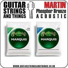 Martin MARQUIS PHOSPHOR BRONZE Acoustic Guitar Strings - ALL GAUGES 6 String