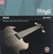 Stagg NICKEL ROUND WOUND Bass Guitar Strings - ALL GAUGES 4 and 5 String