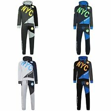 Boys New Contrast DLX PROJECT NYC Tracksuit Sweat Top & Jog Track Bottoms Set
