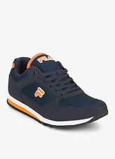 Fila Brand Mens Bastiano Navy Orange Casual Sports Shoes