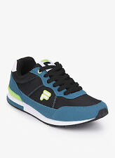 Fila Brand Mens Original Eliso Black Green Casual Sports Shoes