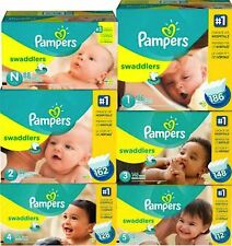 Pampers Swaddlers Diapers Economy Plus Pack (Choose Your Size) Free shipping