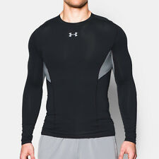 Under Armour CoolSwitch Mens Black HeatGear Long Sleeve Compression Top