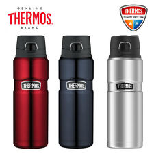 New THERMOS Stainless King S/Steel Vacuum Insulated Bottle 710ml Leak Proof