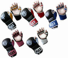 R A X MMA UFC Grappling Gloves Boxing Punch Bag Kick Muay Thai Pad Training Mitt