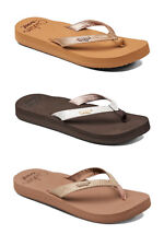 Reef Womens Flip Flops - Star Cushion Sassy - Sandal, Black, Brown, Rose, Mocha