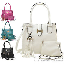 Ladies / Womens Faux Leather Handbag / Shoulder / Tote Bag with Removable Purse