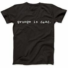 Grunge Is Dead Worn By Kurt Cobain T-Shirt 100% Premium Cotton Flipper
