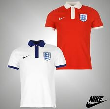 Mens Genuine Nike Three Lions Crest England Football Polo Shirt Top Size S-XXL