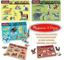 Melissa & Doug Sound Puzzle ZOO FARM ANIMALS PETS VEHICLES TOOLS or INSTRUMENTS