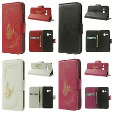 Laser Carving Butterfly Leather Case Flip Cover For HTC One Mini 2/M8 Mini 4.5""