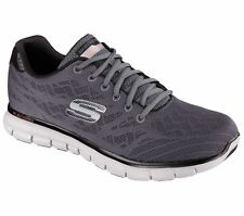 Skechers Brand Grey Mens Sports Running Shoes 51524 Memory Foam Gel Infused