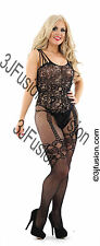 Ladies Classified Sexy Black Lace Catsuit Bodysuit Lingerie  FREE POSTAGE (AD)