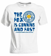 TSHIRT LEICESTER CITY PREMIER LEAGUE CHAMPIONS 2016 VARDY ENGLAND T-SHIRT FOX