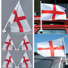 ENGLAND ST GEORGES CROSS CAR FLAG APPROX 30CM X 45CM GREAT UK FLAG SUMMER TIME