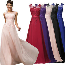 2-24 W Grande Taille Long Bal Cocktail Mariage Robe Soirée Robe