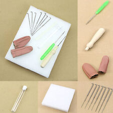 1Set Needle Felting Starter Kit Wool Felt Tool Mat+Accessories Craft+Needles S99