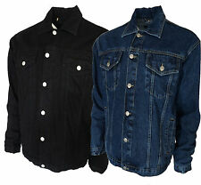Mens Trucker Denim Jean Jackets Stonewash And Black From S to 5XL