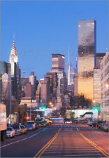 Poster / Leinwandbild USA, New York State, New York City, city street with...
