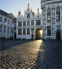 Poster / Leinwandbild Burg Square and the Town Hall, Bruges, UNE... - S. Black