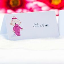 5 x Personalised Place Cards – Weddings etc  – Baby Girl