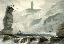 Poster / Leinwandbild Lighthouse on Flamborough Head, from Vol... - W. Daniell