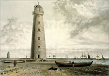Poster / Leinwandbild The Orford Nefs Lighthouses, Suffolk, fr... - W. Daniell